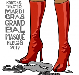 Bootleg's MARDI GRAS GRAND BAL MASQUE 10 Year Anniversary Celebration